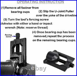 10102 U-Joint Puller for Class 7 and 8 Spicer Meritor (Rockwell) Remover Tool