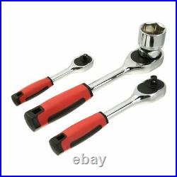 121 Pcs 1/4 3/8 1/2 Spanner Socket Screwdriver Car Repair Ratchet Wrench Tool