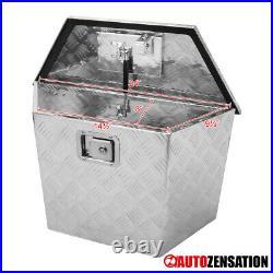 15/28 Heavy Duty Aluminum Tool Box Truck Trailer Storage Organizer+Lock+Keys