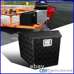 29 Black Tongue Heavy Duty Aluminum Tool Box Truck Storage Trunk Trailer+Lock