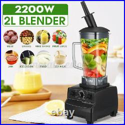 2L 2200W Blender Heavy Duty Commercial Grade Blender Mixer Juicer Heating Tool