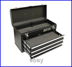 3 Drawer Tool Chest Box Heavy Duty Steel Ball Bearing Rollers Foam Inlayed