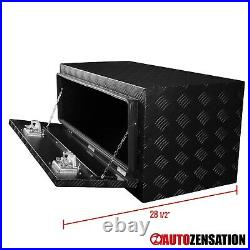 36 Heavy Duty Black Aluminum Tool Box Truck Storage Trailer Flat Bed Underbody
