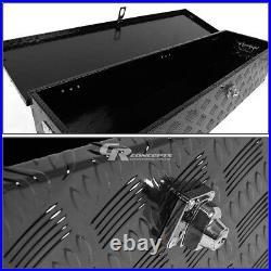 39x 13 X10 Black Aluminum Pickup Truck Heavy Duty Tool Box Trunk Bed Storage