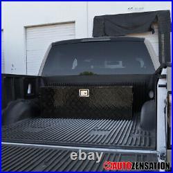 44 Heavy Duty Black Aluminum Tool Box Truck Storage Organizer+Handles+Keys+Lock