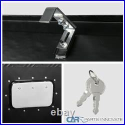 49 Heavy Duty Black Textured Aluminum Tool Box Trailer Storage Trunk Under Bed