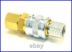 50 pcs Heavy Duty Quick Coupler Air Hose Connector Fittings 1/4 NPT Tools Plug