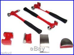 7pc Heavy Duty Auto Body Dent Repair Hammer Dolly Automotive Body Repair Tools