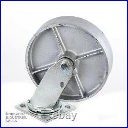 8 x 2 Swivel Casters with Steel Wheel /Rigid 1250lb ea Heavy Duty Tool Box