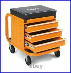 Beta Tools 2258-O Heavy Duty Mechanics Creeper Seat with Tool Chest 022580011