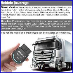 Bluetooth Diagnostic Scan Tool Desiel Heavy Duty Truck Automotive OBD2 Scanner