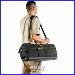Cat 20 in. Tech Widemouth Tool Bag 12 Pocket Heavy Duty 1200D Polyester 240173