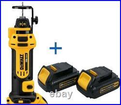 DEWALT DCS551B 20V MAX Cordless Li-Ion Drywall Cut-Out Tool New DCB201-2 Battery