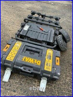 DEWALT Tough System Heavy Duty Trolley & One Small Tool Box