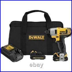 DeWALT DCF815S2 12V MAX 1/4-Inch Cordless Impact Driver Tool Kit