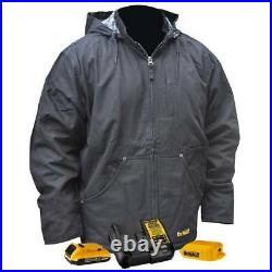 DeWALT DCHJ076ABD1-XL 20V Heated Heavy Duty Work Coat Kit Black XL Bare Tool