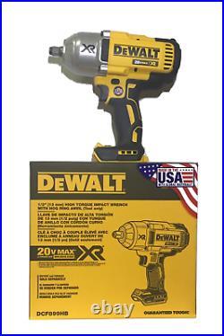 DeWalt 20V XR 1/2 Brushless Hog Ring Impact Wrench (TOOL ONLY) USA Made DCF899HB