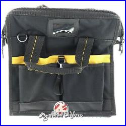 DeWalt DGL573 Heavy Duty 41 Pocket LED Lighted Pro Contractor Tool Bag Box Case