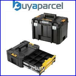 Dewalt Tstak VI Combo Heavy Duty Deep Tool Storage Case + 2 Drawer Organiser