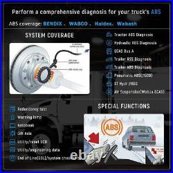 Diesel Heavy Duty Truck OBD Scanner Full System Diagnostic Tool ABS Transmission