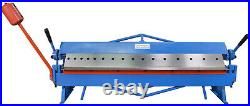 Erie Tools Heavy Duty 48 Sheet Metal Pan and Box Brake with Adjustable Fingers