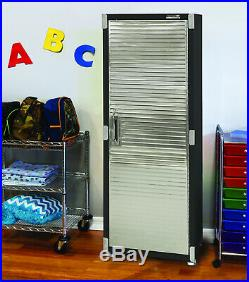 Garage Storage Cabinet Tool Box Side Pegboard Heavy Duty Metal Steel Tall Locker