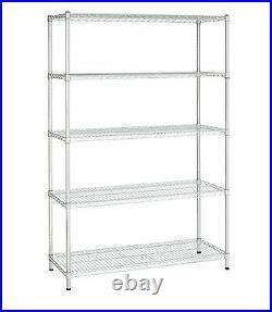 Heavy Duty 72 Metal Wire Rack Shelving Storage Garage 5 Shelf Tool Home Office