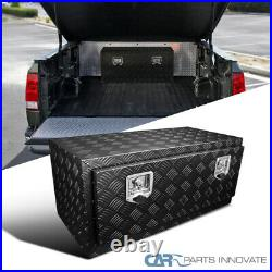 Heavy Duty Black 36 Truck Pickup Under bed Tool Box Trailer Storage Bed with Lock
