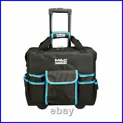 Heavy Duty Mobile Rolling Tool Bag On Wheels With Pockets Case Storage Holder