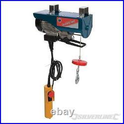 Heavy Duty Silverline Electric 500w 250kg Lifting Engine Hoist Winch Garage Tool