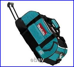 Heavy duty mobile rolling tool duffel bag on wheels with pockets, case / storage