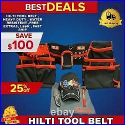Hilti Tool Belt, Heavy Duty, Water Resistent, Free Extras, L@@k, Fast Ship