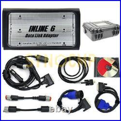 Inline 6 Data Link Adapter Fits Cummins Komatsu Heavy Duty Diagnostic Tool Kit
