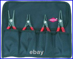 Knipex 4pc Snap Ring Plier Set Internal External Circlip 001957 in Tool Roll