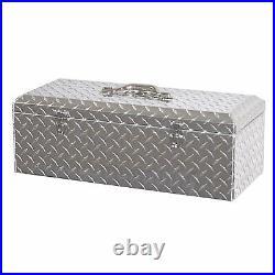 Lund 16.5 Inch Challenger Hand Tote Storage Heavy Duty Brite Aluminum Tool Box