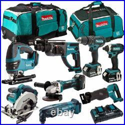 Makita 8 Piece Tool Kit 18V 3 x 5.0Ah Batteries & Twin Port Charger T4TKIT-4344