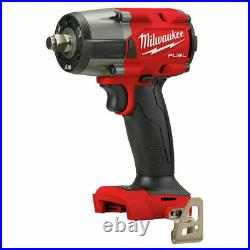 Milwaukee 2962-20 M18 FUEL 1/2 Mid-Torque Impact Wrench with Friction Ring Tool