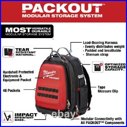 Milwaukee Tool Backpack Storage Bag Organizer 15 in. PACKOUT Heavy Duty