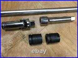 NEW Snap On Tools 1 Drive Breaker Bar 5 PC Set L113, L63, L53HB, IM423 IMM333