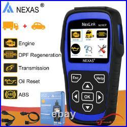 NEXAS NL102P Diesel Heavy Duty Truck Scanner OBD2 Diagnostic Tool Oil DPF Regen