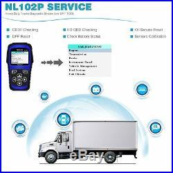 NL102 PLUS Diesel Gas Heavy Duty Truck Diagnostic Scanner ABS Oil Reset Tool US