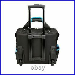 New Heavy Duty Mobile Rolling Tool Bag On Wheels With Pockets Case Storage