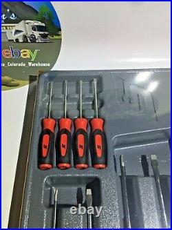 New Snap-On 10pc Instinct Grip Screwdriver Set SGDX6040BR RED NEW