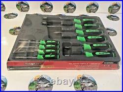 New Snap-On 10pc Instinct Grip Screwdrivers Set SGDX6040BG GREEN NEW