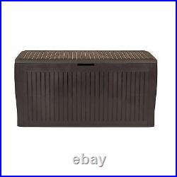 Outdoor Garden Plastic Storage Seat Utility Chest Cushion Shed Patio Tool Box