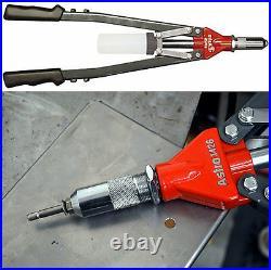 Pop Rivet Gun 1/4 Hand Riveter Heavy Duty Tool Treated Blind Nut Riveting