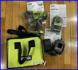 Ryobi P261 18v One+ Cordless 1/2 Impact Wrench Tool Charger 4.0ah Battery Set