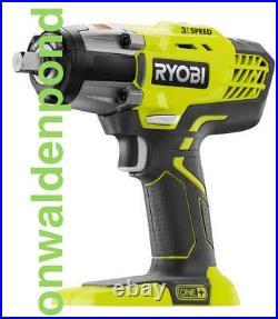 Ryobi P261 3-speed 18-volt 18v One+ Cordless 1/2 Impact Wrench Tool New