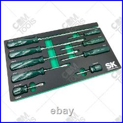 SK Hand Tools 86006 9pc SureGrip Combination Screwdriver Set