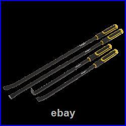 Sealey Siegen Impact Heavy Duty 4 Piece Pry Bar Crowbar Tool Set In Tool Roll